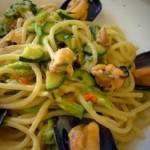 linguine cozze e zucchine