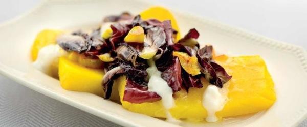 medaglioni di polenta con radicchio e taleggio