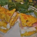 omelette prosciutto mozzarella e pomodorini