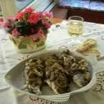 orate con funghi champignon al cartoccio