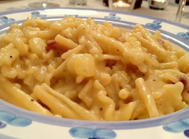 pasta patate e pancetta