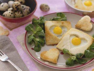 uova di quaglia in cuore di pane